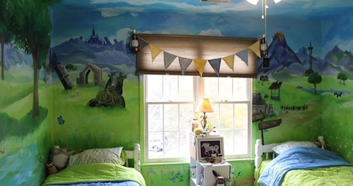 """Oslikana soba u """"The Legend of Zelda"""" pretvorila je dječju spavaću sobu u prekrasan krajolik"""