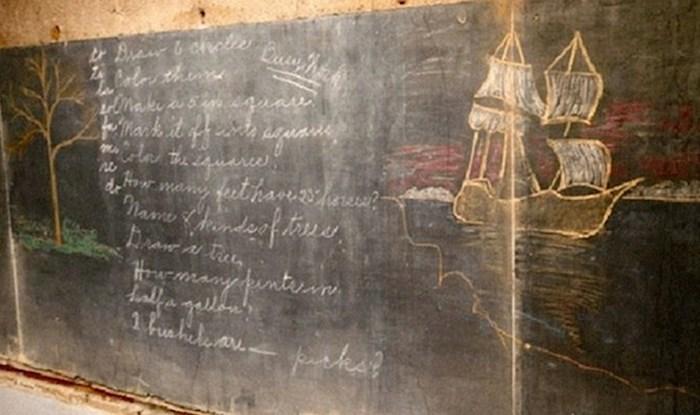 Tijekom renovacije škole radnici su pronašli učionice u kojima je vrijeme stalo