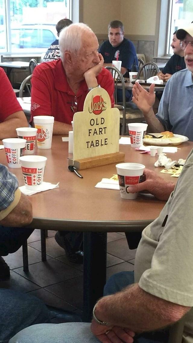 """""""Ovi momci svakog jutra sjede za istim stolom. Vlasnici restorana napravili su znak samo za njih."""""""