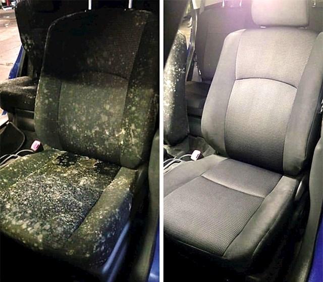 #15 Automobilsko sjedalo nakon temeljnog čišćenja.