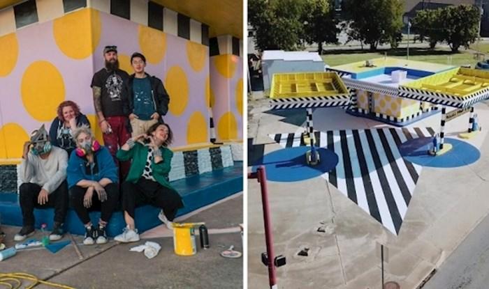 Pogledajte kako je skupina umjetnika pretvorila staru benzinsku postaju u impresivan slikoviti spomenik