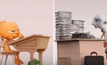 Ovaj kratki animirani film prikazuje kako društvo uništava našu kreativnost, a poruka zaista otvara oči