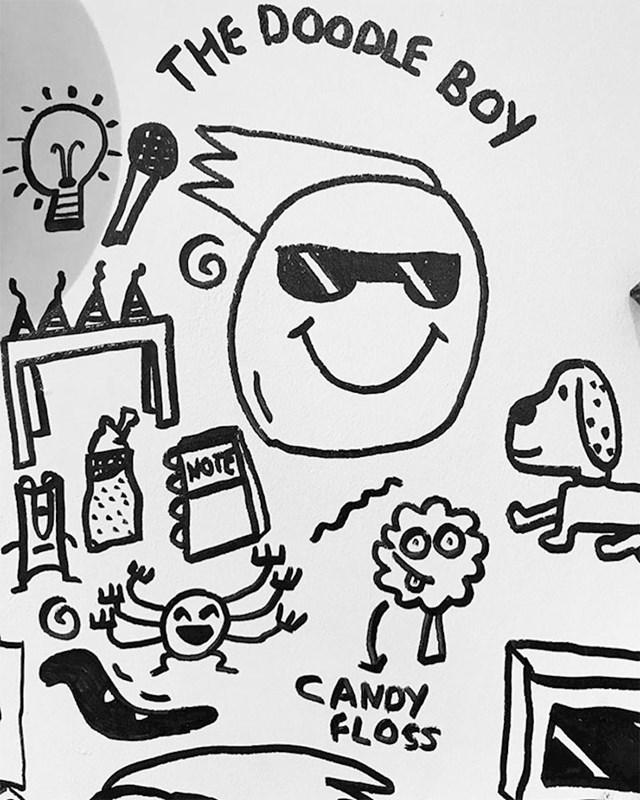 """Joe je poznat kao """"The Doodle Boy"""" a njegove radove možete pronaći na web stranici i profilima na društvenim mrežama."""