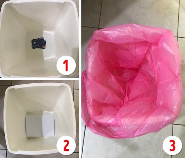 #12 Kada idete na godišnji, vrijedne stvari možete sakriti ispod vreće u kanti.