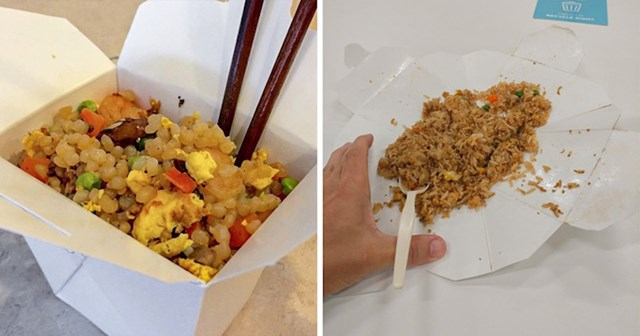 #1 Ako ste ikada naručili kinesku hranu, raširite kutiju i koristite je kao tanjur.