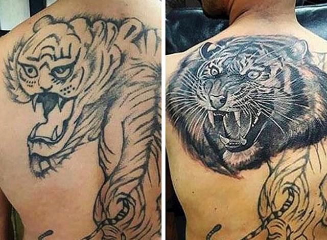 #5 Ova neuspjela tetovaža prije i poslije.