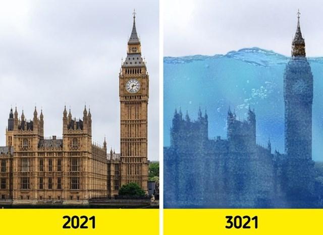 6. Mnogi bi gradovi bili pod vodom.