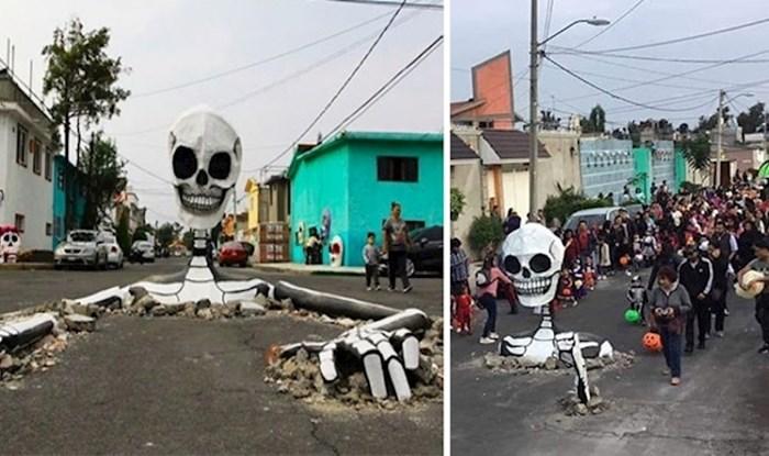 Na ulicama glavnog grada Meksika golemi kosturi postali su središte pozornosti