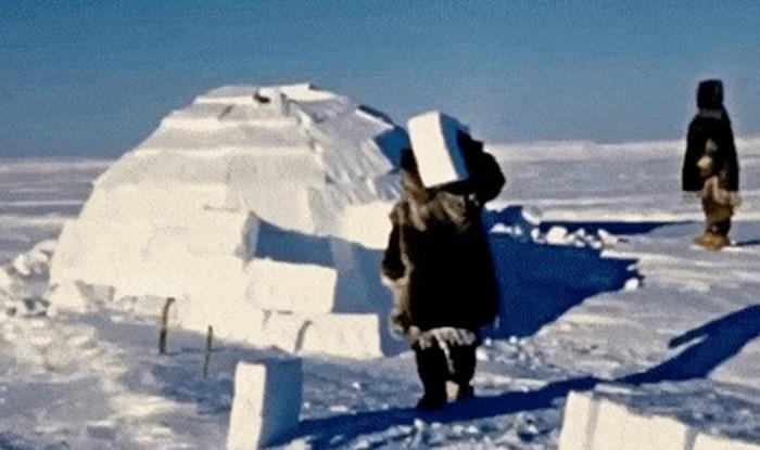 Pogledajte kako izgleda izgradnja igluua na ekstremnim hladnoćama