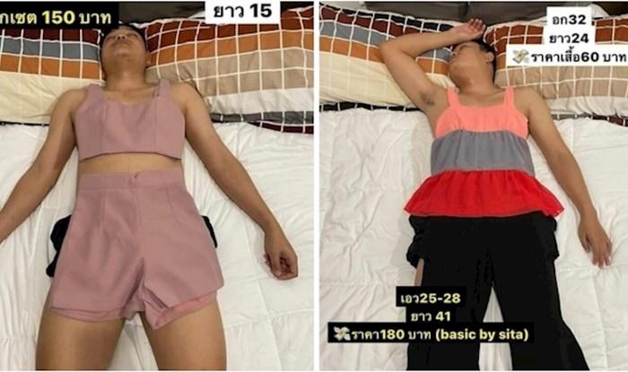 Usnulog supruga iskoristila je kao modela za prodaju odjeće na internetu; ovo morate vidjeti