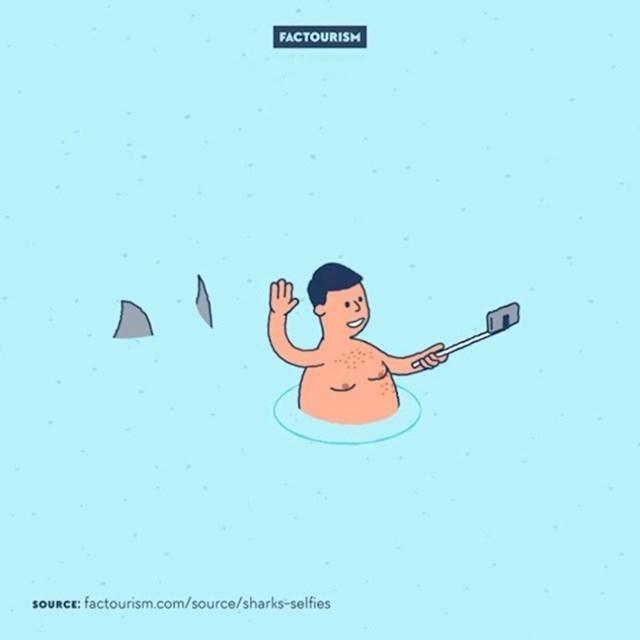 #1 Selfiji ubiju više ljudi nego morski psi.