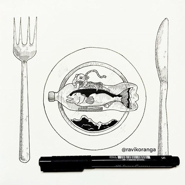 Sitni komadi ispunjavaju mora i ulaze u bića koja žive u njima. To znači da mikroplastika ulazi u prehrambeni lanac i u konačnici, u naša tijela.