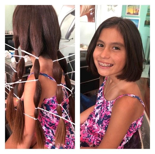 """11. """"Moja je kćerka donirala 12 centimetara kose koju je uzgajala za """"Wigs for Kids"""""""