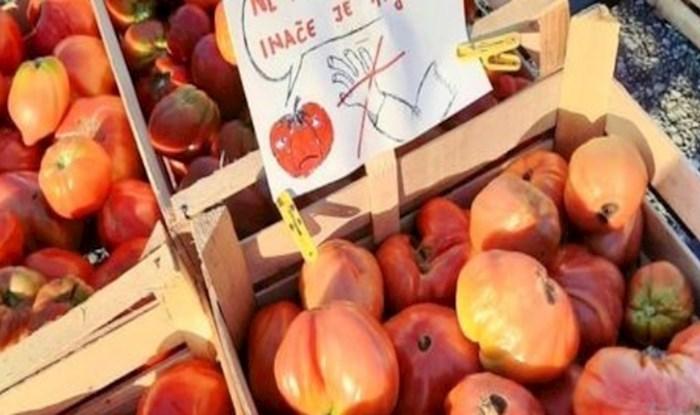 Na jednoj tržnici u Hrvatskoj netko je ostavio poruku koja je sve nasmijala