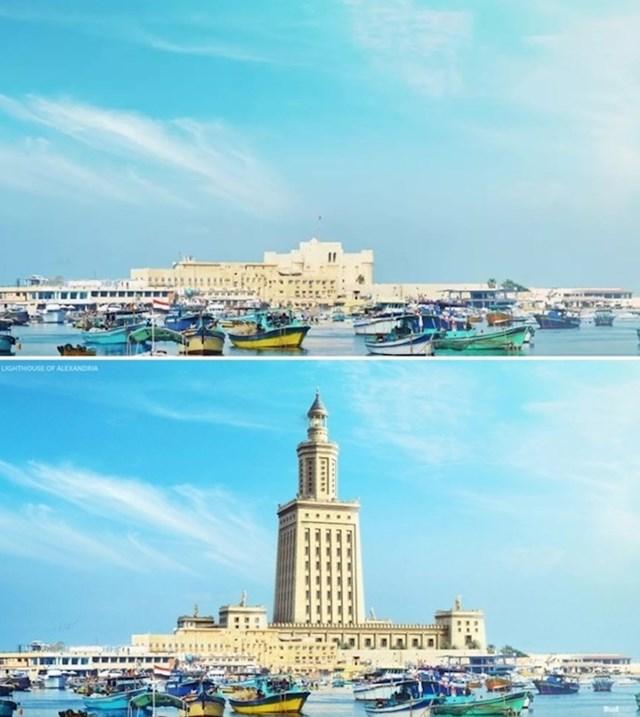 Aleksandrijski svjetionik na otok Faru pred Aleksandrijom