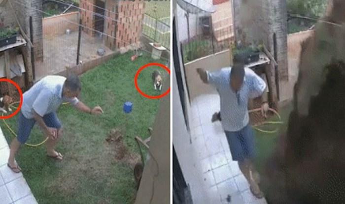 Ovaj čovjek i njegovi psi skoro su dobili ozbiljne ozlijede od eksplozije u dvorištu