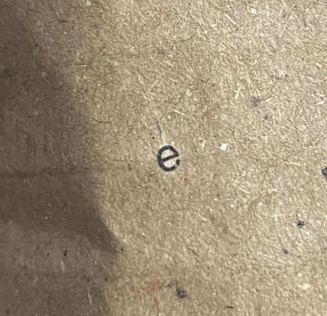 """""""Pronašli smo E koji je preživio proces recikliranja na kartonu koji koristimo na poslu."""""""