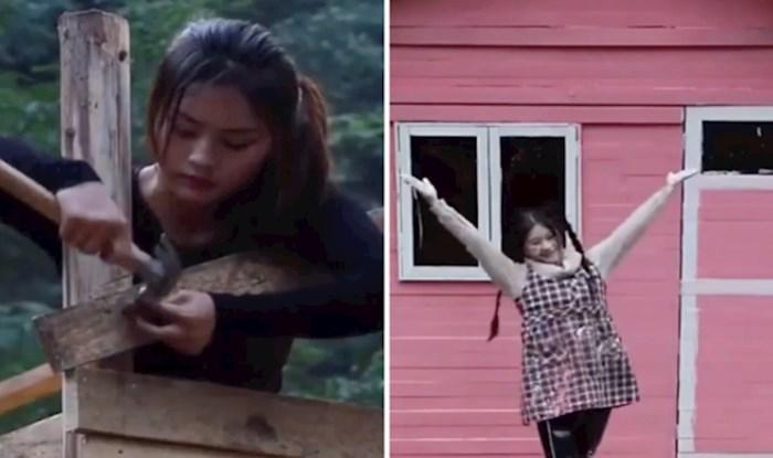 VIDEO Djevojka je sama izgradila kuću u samo tjedan dana