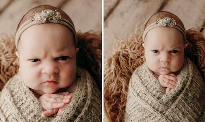 Djevojčica koja pravi urnebesne grimase tijekom fotografiranja možda će biti najbolja stvar koju ćete danas vidjeti