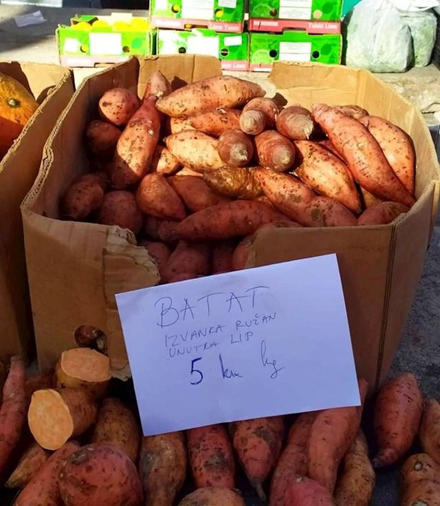 U Splitu na tržnici nalazi se ovaj zanimljivi opis proizvoda.