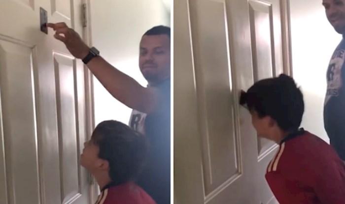 VIDEO Odlučili su se našaliti sa sinom, a onda se dogodilo neočekivano