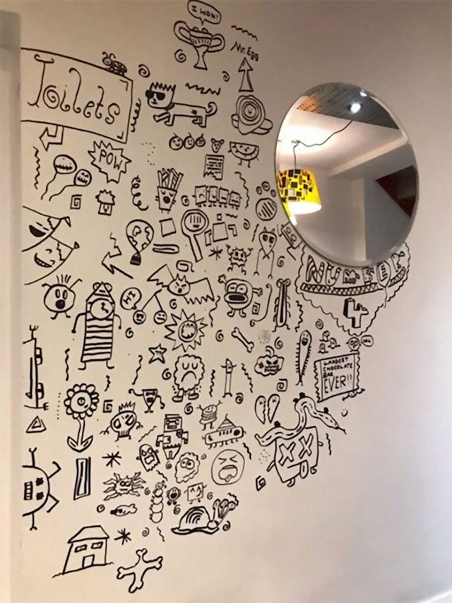 Crteže devetogodišnjaka odmah je primijetilo osoblje iz restorana 'Broj 4'.