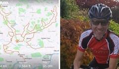 Ovaj biciklist proveo je 9 sati pedalirajući po Londonu kako bi stvorio sliku jelena na fitness aplikaciji