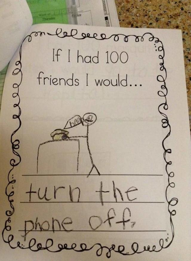 Kada bi imao/la 100 prijatelja, ja bih: