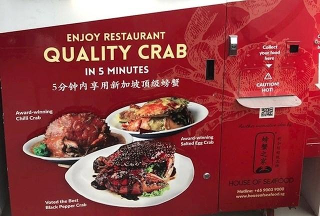 #2 U Singapuru možete imati lijepu večeru s rakovima.