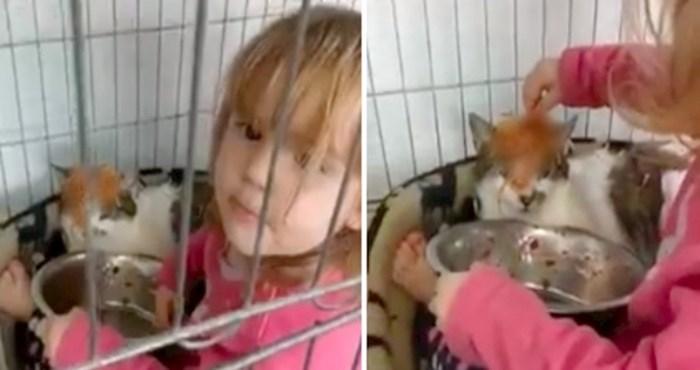 VIDEO Pogledajte što ova djevojčica i mačka rade u kavezu za životinje