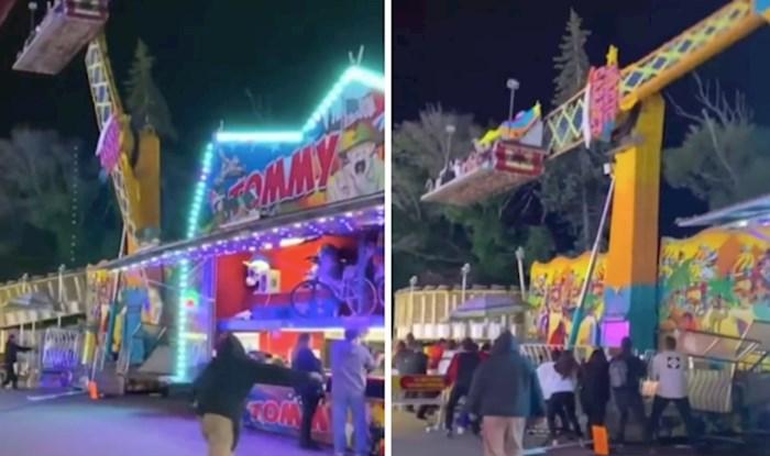 VIDEO Vožnja u zabavnom parku koja je mogla završiti katastrofom