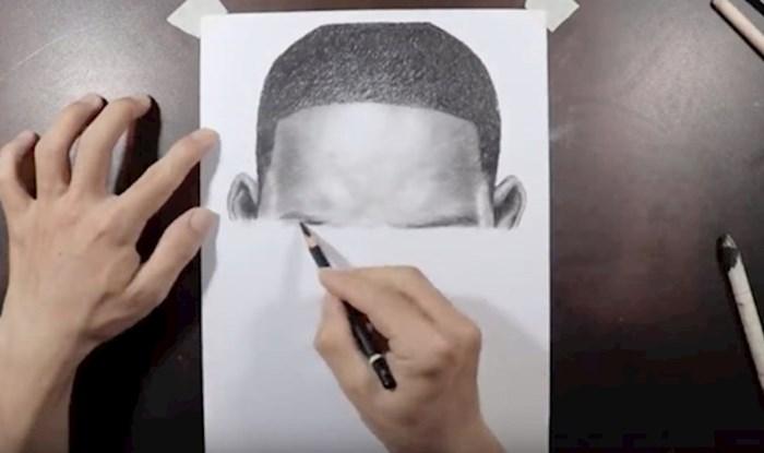 """VIDEO Ovaj umjetnik crta kao pisač, pogledajte kako je """"ispisao"""" Will Smitha"""