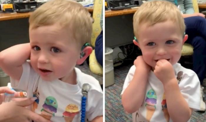 VIDEO Od rođenja ne čuje, ali sada je napokon dobio slušno pomagalo