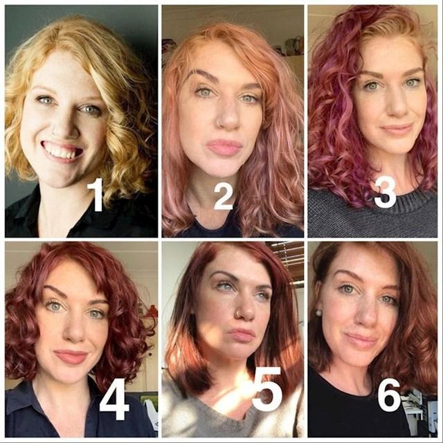 """""""Četrdesetogodišnja crvenokosa, kosa mi blijedi u neobično žutu boju. Trebam li se vratiti svojim omiljenim tamnocrvenim bojama, kao na fotki 4, 5 i 6? """""""