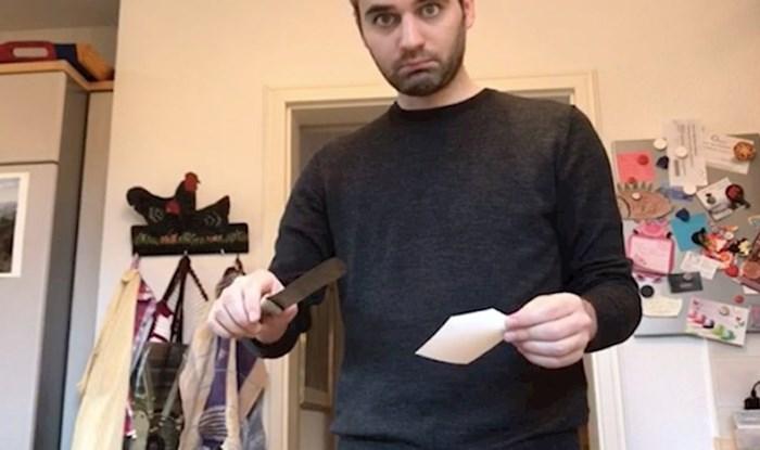 Pronašao je nož koji njegova baka koristi već 60 godina, pogledajte koliko je oštar