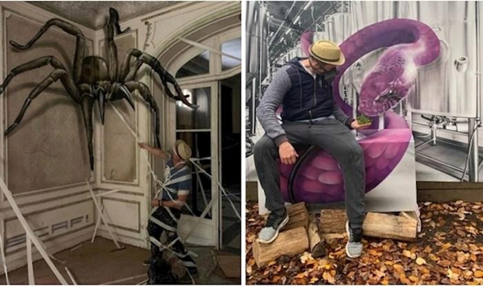Ovaj francuski ulični umjetnik stvara nevjerojatne 3D grafite i neki su prilično jezivi