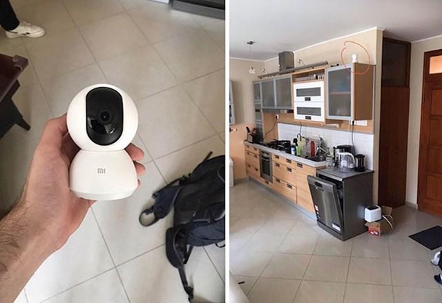 """""""Moj stanodavac pretvarao se da nešto radi u stanu, ali završio je s postavljanjem ove 360 ° Wifi nadzorne kamere koja također snima audio, a da mi o tome nije pričao."""""""
