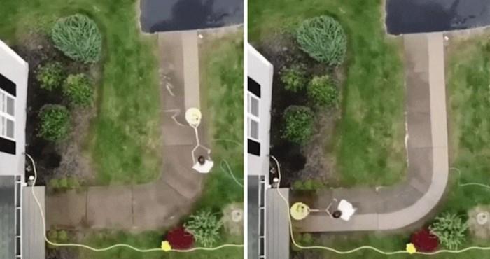 Visokotlačni perač u akciji snimljen dronom nevjerojatan je prizor