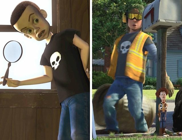 #9 Sid iz Toy Storya (1995.) odrastao je i pojavljuje se kao smetlar u Toy Story 3 (2010).