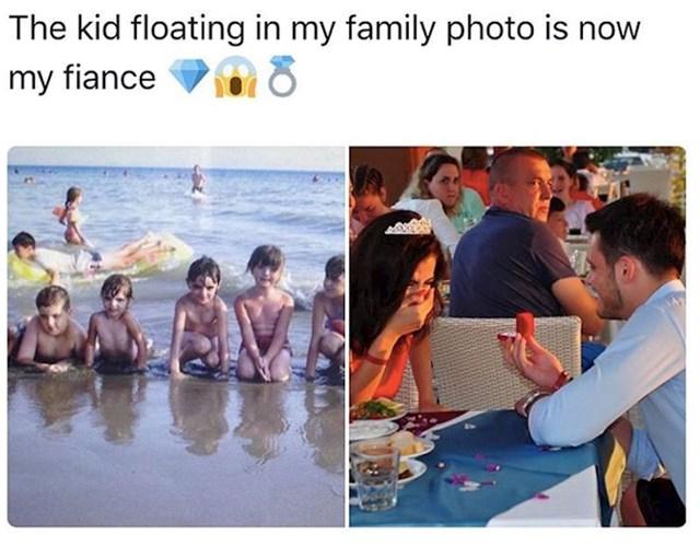6. Svog zaručnika pronašla je na staroj fotografiji s plaže.