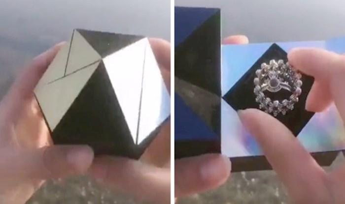 Ovakav kreativan poklon koji je zaručnički prsten još nismo vidjeli