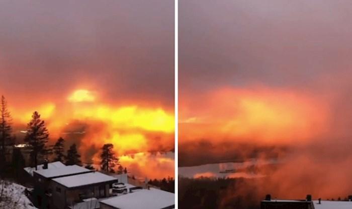 Prekrasni zalazak sunca u Oslu mogao bi vam izgledati kao da se radi o požaru