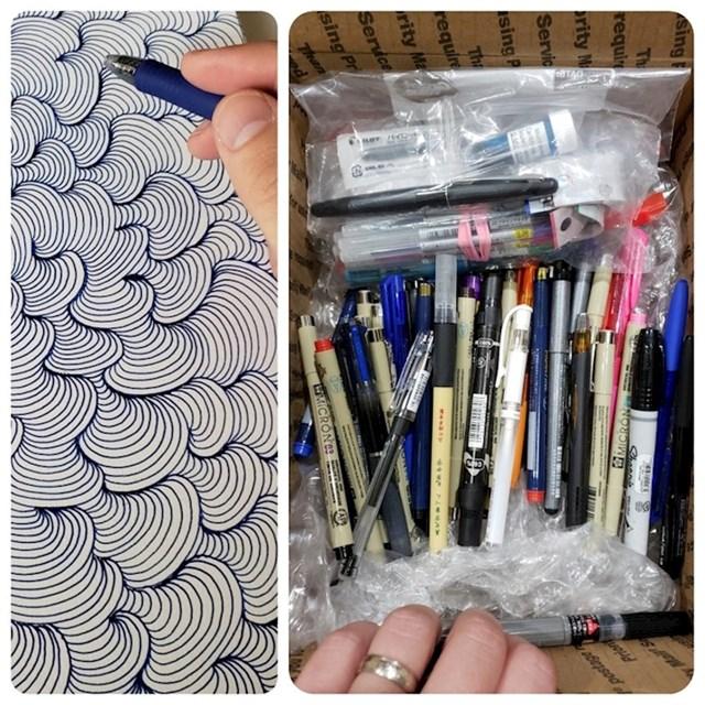 """8. """"Slučajni korisnik Reddita poslao mi je ovu kutiju olovaka kako bih mogao izbjeći troškove eksperimentiranja s mojim umjetničkim djelima!"""""""