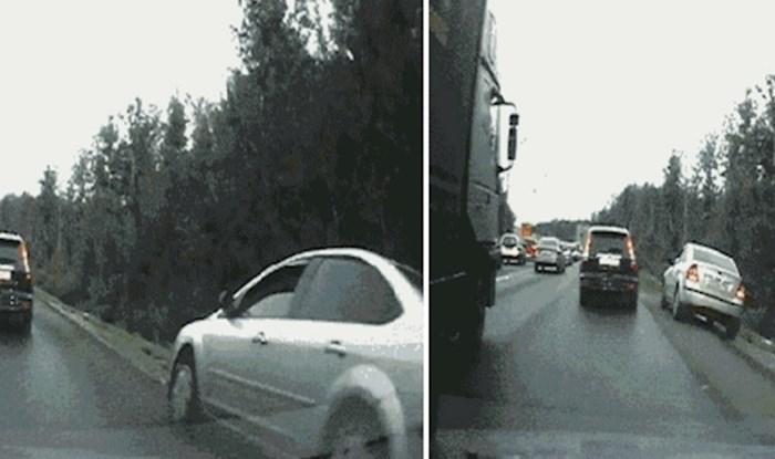 Ovaj nesavjesni vozač uskoro će doživjeti neugodno iznenađenje