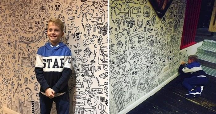 Nakon što je učitelj otkrio njegov talent, ovaj dječak dobio je posao uređenja restorana svojim crtežima