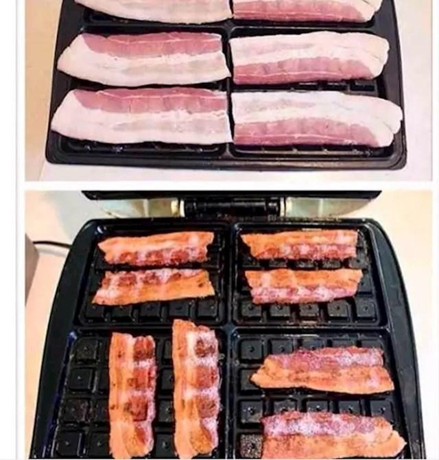 Na tosterima za vruće sendviče možete ispeći i šunku, slaninu...