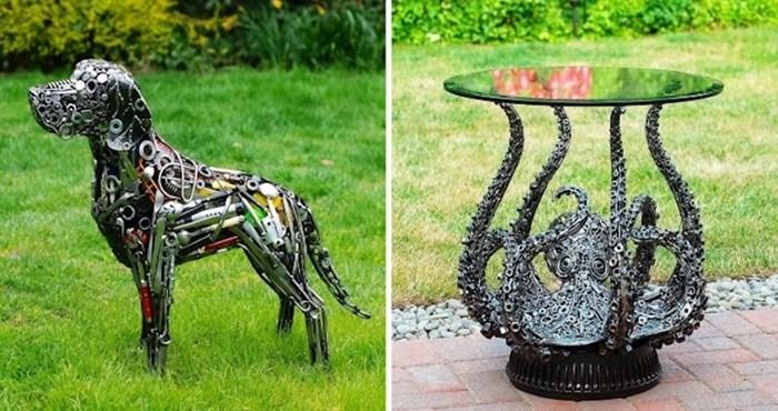 20 nevjerojatnih skulptura od recikliranih i pronađenih predmeta Briana Mocka