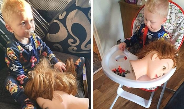Majka je smislila genijalan trik da uspješno uspava sina ali nije očekivala smiješni preokret