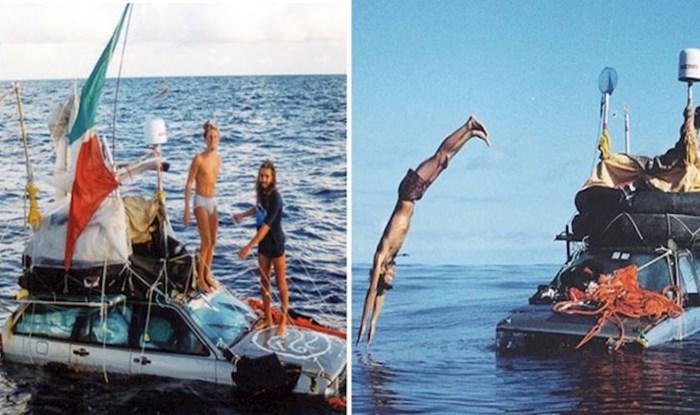 1999. godine dvojica Talijana uspjela su prijeći Atlantik u plutajućim automobilima