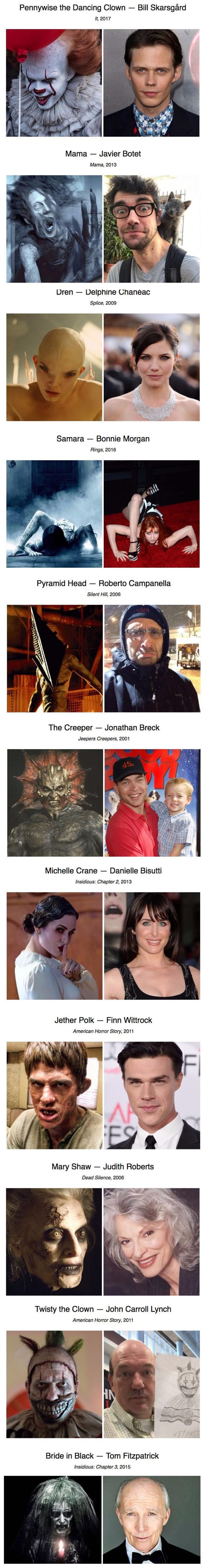 Ovako zvijezde horor filmova izgledaju u stvarnom životu